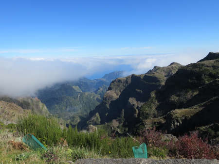 landschaft: view at Pico de Ariero, Madeira, Portugal Stock Photo