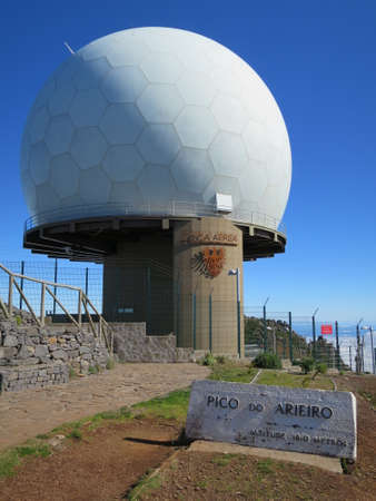 militarily: militarily radar station on the Pico de Ariero, Madeira, Portugal
