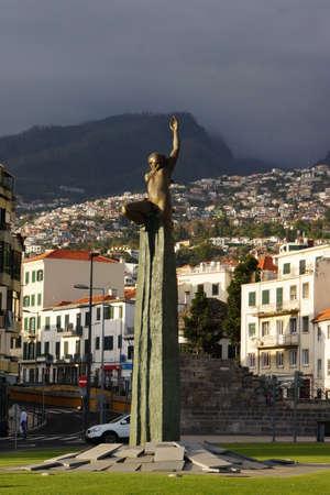 autonomy: Autonomy monument on the Praca da Autonomia, Funchal, Madeira, Portugal