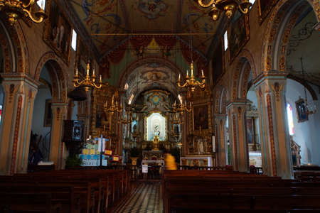 high altar: magnificent altar in the church of Sao Vicente, Madeira, Portugal Editorial