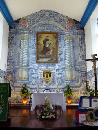 santo: Village church in Santo Antonio da Serra, Madeira, Portugal Editorial