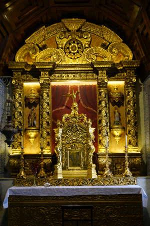 pompous: pompous altar in the parish church, Santana, Madeira, Portugal