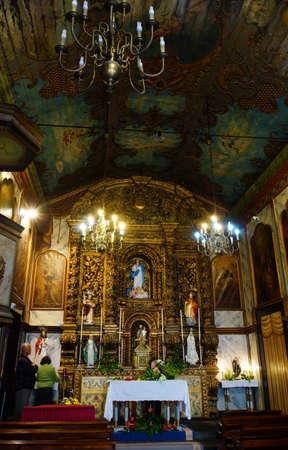 pompous: pompous altar in the parish church, Camara de Lobos, Madeira, Portugal Editorial