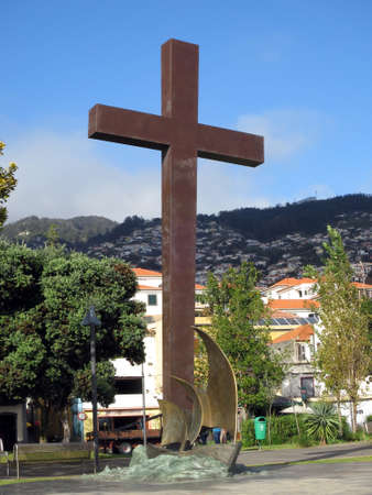 missionary: Monument 500 years proselytizing, Funchal, Madeira, Portugal Stock Photo