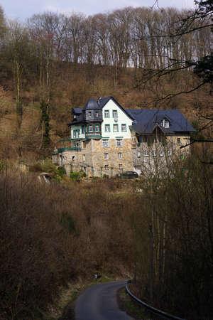 Homestead Johannesburg Grenzau, Hoehr-Grenzhausen, Rhineland-Palatinate, Germany Stock Photo