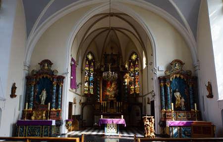high altar: Parish church St. Kunibert, Erftstadt-Gymnich, Nordrhein-Westfalen, Germany Editorial