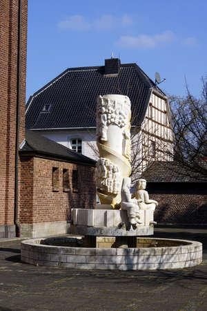 parish: Parish church St. Kunibert, Erftstadt-Gymnich, Nordrhein-Westfalen, Germany Stock Photo
