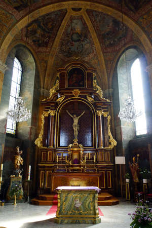 and saint: Hospital church Saint Joseph, Andernach, Rheinland-Pfalz, Germany