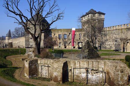 ruin: Castle ruin Andernach, Rheinland-Pfalz, Germany