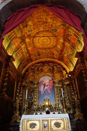 jorge: magnificent altar in the church of Sao Jorge, Madeira, Portugal