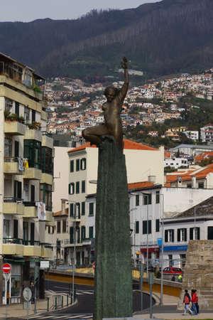 autonomia: monumento en la Plaza de la autonomía Autonomía, Funchal, Madeira, Portugal