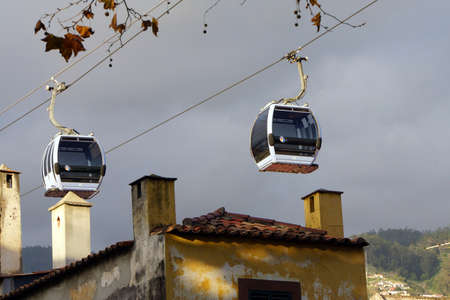 tourismus: Cable railway to Monte, Funchal, Madeira, Portugal