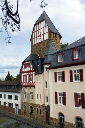 historically: Schloesschen tower in the historic city wall, Bad Neuenahr, Rheinland-Pfalz, Germany