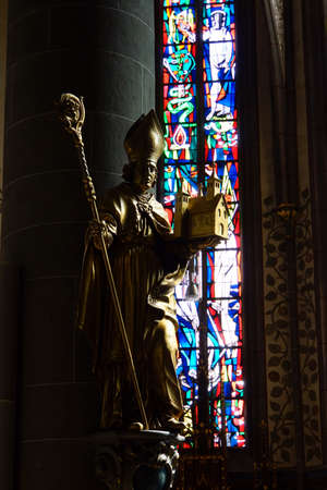 severus: Parish Church of Saint Lawrence in the historic Old Town, Ahrweiler, Rheinland-Pfalz, Germany Editorial