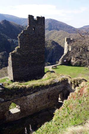 viniculture: Ruin castle Are, Altenahr, Rheinland-Pfalz, Germany
