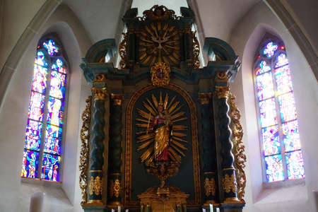 high altar: Parish church Maria proclamation, Altenahr, Rheinland-Pfalz, Germany