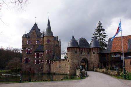 jousting: castle Satzvey, Mechernich, Nordrhein-Westfalen, Germany Editorial