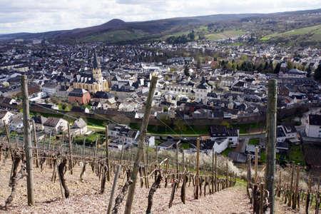 viniculture: View from the vineyards on Ahrweiler, Rheinland-Pfalz, Germany