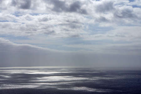 meer: Clouds cast their shadows on sea surface, Canico, Madeira, Portugal