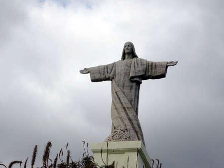 rei: Christo Rei monument on the Ponta do Garajau, Canico, Madeira, Portugal