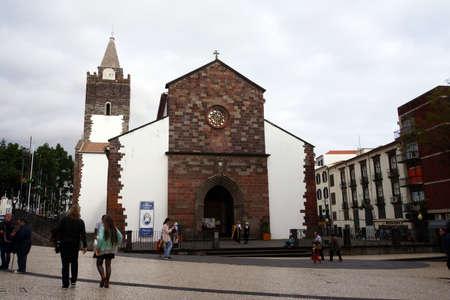 senhora: cathedral Se Catedral de Nossa Senhora da Assuncao, Funchal, Madeira, Portugal