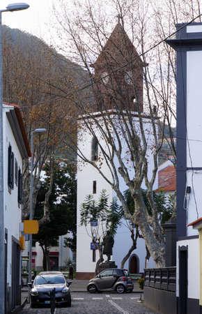 senhora: Parish church Igreja de Nossa Senhora da Conceicao, Machico, Madeira, Portugal Stock Photo