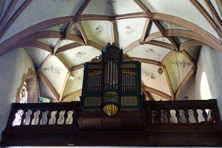 fachwerk: church organ, Blankenheim, North Rhine-Westphalia, Germany