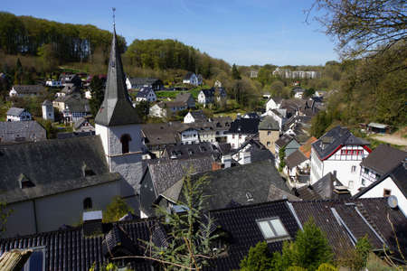 fachwerk: view on historic center, Blankenheim, North Rhine-Westphalia, Germany