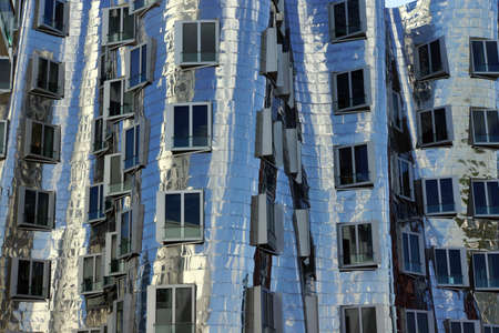 Gehry buildings in the Media Harbour, Dusseldorf, Nordrhein-Westfalen, Germany Reklamní fotografie - 58653263