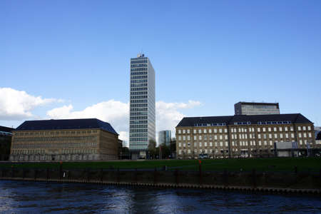 administrative buildings: Administrative buildings on the Rhine promenade, Dusseldorf, Nordrhein-Westfalen, Germany