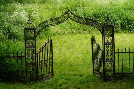 Garden gate in wrought iron, Nordrhein-Westfalen, Germany
