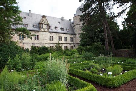 Kruiden tuin voordat Wewelsburg, Bueren, Nordrhein-Westfalen, Duitsland
