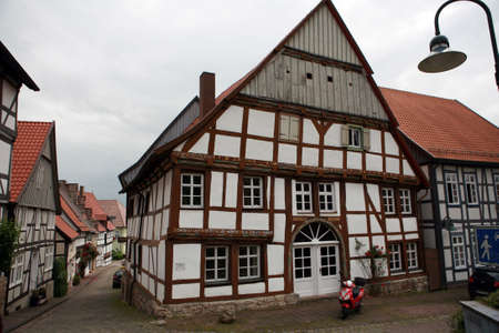 baudenkmal: Tudor style house - World Heritage historic old town Warburg, Nordrhein-Westfalen, Germany