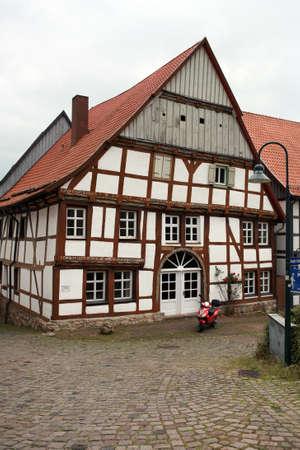 altstadt: Tudor style house - World Heritage historic old town Warburg, Nordrhein-Westfalen, Germany