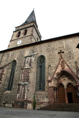 visitation: Old church Santa Maria Visitation - World Heritage historic old town Warburg, Nordrhein-Westfalen, Germany