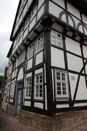 fachwerk: Goldsmith House - World Heritage historic old town Warburg, Nordrhein-Westfalen, Germany
