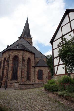 altstadt: Old church Santa Maria Visitation - World Heritage historic old town Warburg, Nordrhein-Westfalen, Germany
