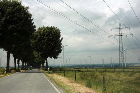 westfalen: Country road in Westfalen, Nordrhein-Westfalen, Germany Stock Photo