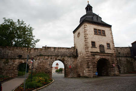 baudenkmal: Women gate - historic city Muehlhausen, Thuringia, Germany