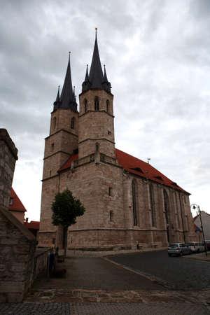the jacobite: Jakobi church - historic city Muehlhausen, Thuringia, Germany Stock Photo