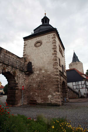 baudenkmal: Women gate - historic center Muehlhausen, Thuringia, Germany