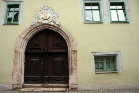 Residential house in the historic Old Town Muehlhausen, Thuringia, Germany