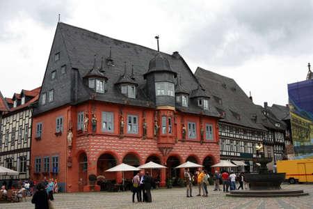 altstadt: historic guild house Kaiserworth, Goslar, Lower Saxony, Germany Stock Photo