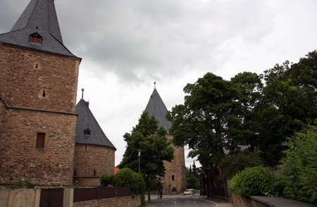 riesling: wide gate - gate of the historic city walls Stock Photo