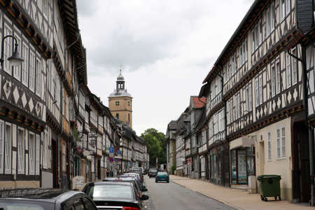altstadt: Timbered house in the historic town, Goslar, Lower Saxony, Germany
