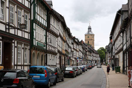 Fachwerkhaus in der historischen Stadt, Goslar, Niedersachsen, Deutschland Standard-Bild