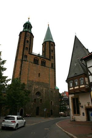 glaube: Market church - historic town, Goslar, Lower Saxony, Germany