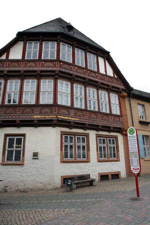 Altes Rathaus - Fachwerkhaus in der historischen Stadt, Goslar, Niedersachsen, Deutschland
