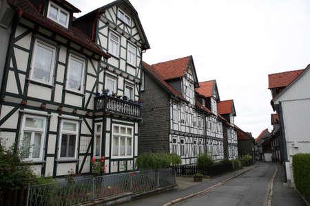 Fachwerkhaus in der historischen Stadt, Goslar, Niedersachsen, Deutschland