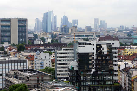 View over Offenbach the skyline of Franfurt, Hessen, Germany Editorial